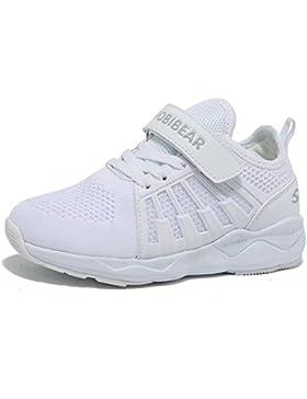 SC Zapatillas de Deporte Niños Ligeras y Transpirables Running Shoes Niño y Niña Velcro Trainers