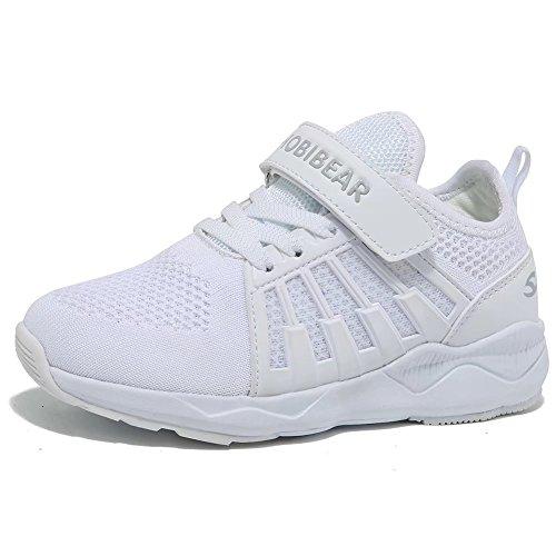 Kinder Sneaker Jungen Mädchen Laufschuhe Unisex-Kinder Outdoor Sport Schuhe, Gr.-33 EU=34 CN, Weiß