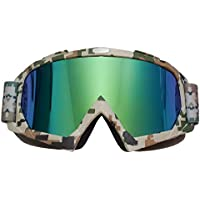 JOLIN Industry Welding Riding Protective Glasses Windproof Goggles Workplace Safety Dustproof Eyewear (Camo frame,tinted lens)