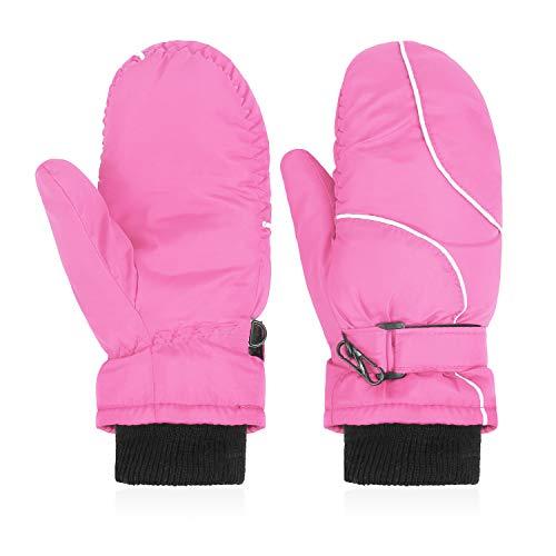 Hawiton Kinder Winterhandschuhe Ski-Handschuhe für Mädchen Atmungsaktive Fausthandschuhe Kinderhandschuhe Winddicht Warme Handschuhe für Skifahren, Spielen, Outdoor-Aktivitäten, Jungen und Mädchen