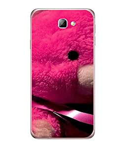 FUSON Designer Back Case Cover for Samsung Galaxy J7 Prime (2016) (Best Gift For Valentine Friends Lovers Couples Baby Pink Red )