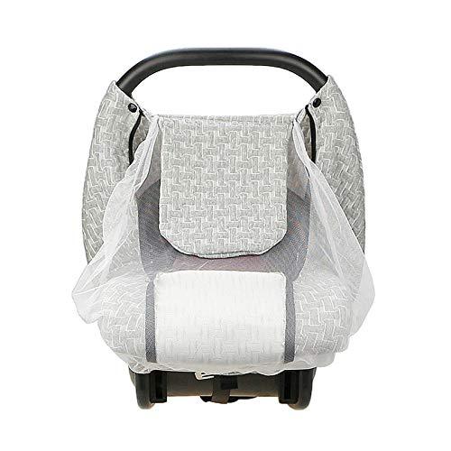 SUREH Baby Stillbezug Autositz Baldachin Atmungsaktiv Baby Autositzbezüge für Jungen Mädchen Auto Carrier Abdeckung mit Baby Moskitonetz dehnbar verstellbar Peep Window (Abdeckung Für Autositz Baby-mädchen)