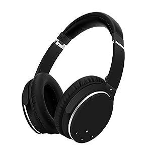Ausinės Bluetooth Kabellos Noise Cancelling- Srhythm NC25- Over Ear Kopfhoerer mit Mikrofon Aktiver Geräuschunterdrückung 190g Ultraleicht Faltbar Hi-Fi Stereo mit Flugzeugstecker