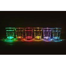2 x 6 Stück (12 Stück) LED beleuchtetes Schnapsglas Fassungsvermögen ca. 6 cl Party LED blinkendes Trinkglas Hochzeit Silvesterparty Trinkspiele Partyglas von der Marke PRECORN