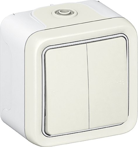 Legrand Plexo LEG69916 - Interruptor doble o conmutado (de superficie, completo), color...