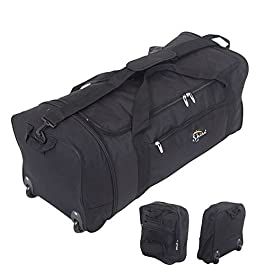 Bagaglio combinato con rotelle, leggero, misura XL, perfetto per i viaggi, lunghezza 76 cm