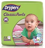 #4: Drypers ClassicPantz Medium Size Diapers 58 Counts