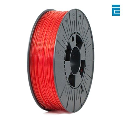 ICE FILAMENTS ICEFIL1PET154 PET Filament, 1,75 mm, 0,75 kg, Transparent Romantic Red