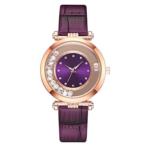 YULINGSTYLE Vintage Uhr Temperament Lady Ledergürtel Diamond Watch Analog QuarzuhrGünstige und billige Uhren