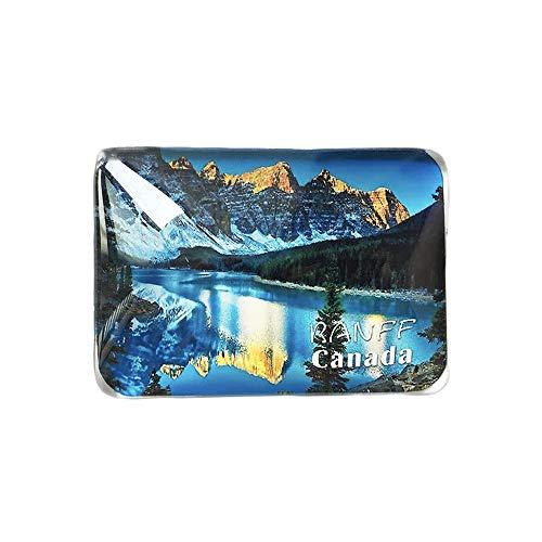 3D Banff Kanada Kühlschrank Kühlschrankmagnet Kristall Glas Handgemachte Tourist Travel Souvenir Sammlung Geschenk Whiteboard Magnetischen Aufkleber Dekoration