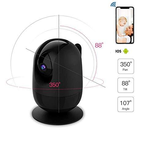 QHLJX Drahtlose IP-Kamera, Wireless CCTV HD 1080P360 ° WiFi-Kamera Überwachungssicherheitssystem Videoaufnahme P2P Zweiweg-Audio-Nachtsicht-Bewegungserkennung Pan, Tilt, Zoom Wireless-Kamera (P2p-drahtlose Ip-kamera)