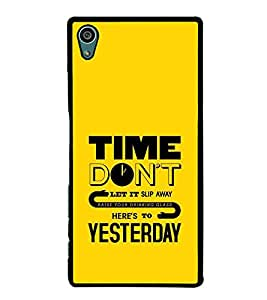 PrintVisa Designer Back Case Cover for Sony Xperia Z5 :: Sony Xperia Z5 Dual 23MP (Time Don't Slip Away Drinking Glass Yesterday )