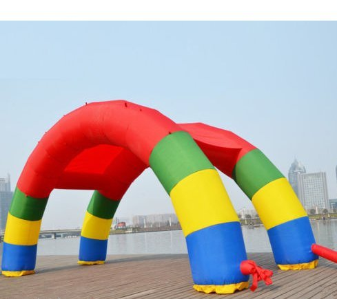 gr-tech Instrument Twin Bögen 26ft Gartenlaube * 8m * 4M aufblasbar Rainbow Arch für Werbung...