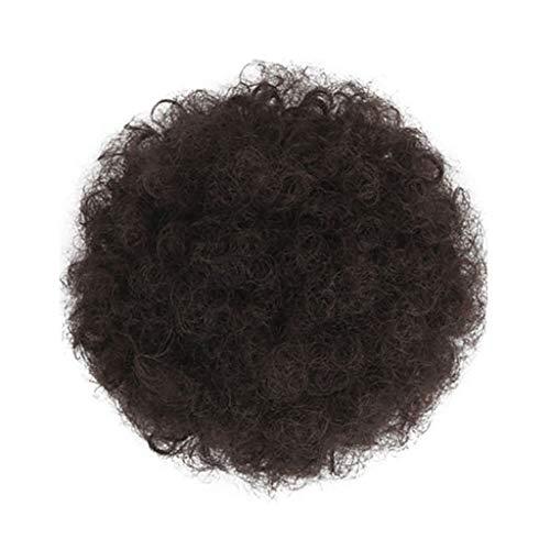 Imjono Kunsthaar-Perücke für Damen, Afro-Perücke, gelockt, Pferdeschwanz, mit Kordelzug, Pferdeschwanz (Flash-kapuzen-handtuch)