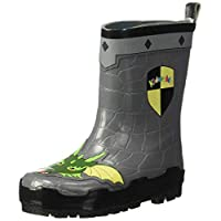 Kidorable Original Branded Dragon Knight Rubber Rain Boots, Wellies for Little Girls, Boys, Children, Toddlers