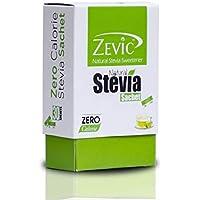 Zevic Stevia 100% Natural Sugar Free White Sachets 30 (Pack of 2) - 60 sachets