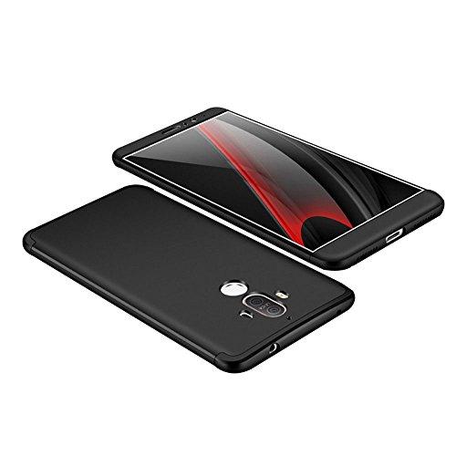 """Huawei Mate 9 Hülle, Mate 9 Case, 3 in 1 Ultra Dünner Harte PC Case 360 Grad Anti-Kratzer Anti-dropping Cover Schutzhülle für Mate 9 Huawei (black, Huawei Mate 9 Case Cover 5.9"""")"""