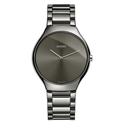 Rado Women's True Thinline 39mm Ceramic Band & Case Quartz Watch R27955122
