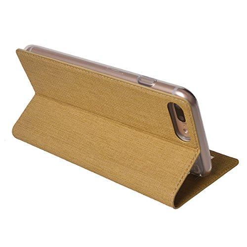 MEIRISHUN Apple iPhone 6/ 6s Case,Portafoglio PU Pelle Magnetico Stand Morbido Silicone Flip Bumper Protettivo Gomma Shell Borsa Custodie con Slot per Apple iPhone 6/ 6s - Nero Marrone