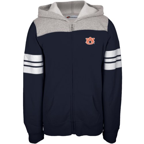 Auburn Tigers–Game Tag Sport Streifen Mädchen Youth Zip Hoodie Blau 12 blau (Tigers Auburn Mädchen)