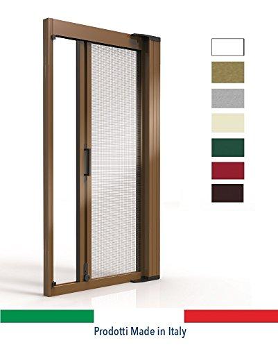 Ortende - zanzariere per porte finestre, zanzariera laterale in alluminio a molla con spazzolino laterale, produzione su misura, non kit cinesi di pessima qualita'.