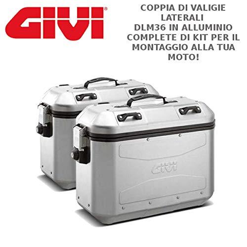 Dlm36 + plr7706 coppia valigie laterali compatibile con ktm 1290 suadventure s 2017 givi dolomiti trekker alluminio