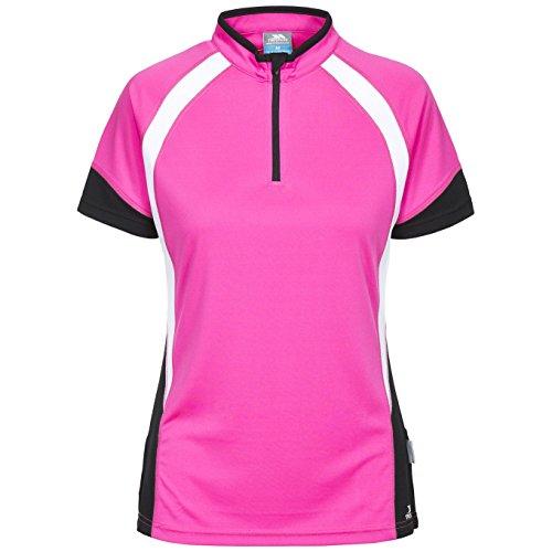 Trespass Harpa, Pink Glow, XL, Schnelltrocknendes Fahrradtrikot mit Reflektierenden Details für Damen, X-Large, Rosa / Pink