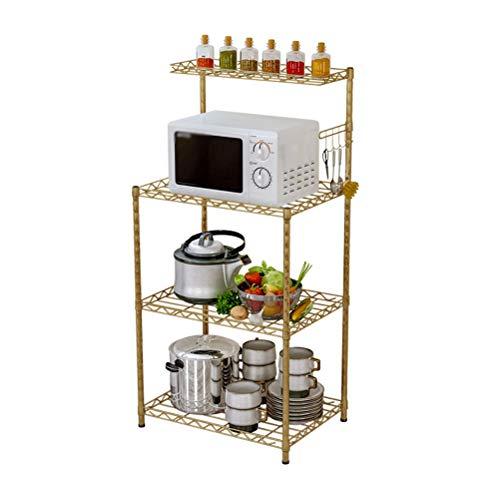 Kitchen furniture - Support de rangement pour la maison de support de four à micro-ondes de cuisine réglable WXP (Couleur : Or)