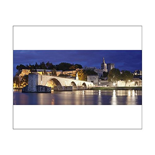 20x16 Print of Bridge St. Benezet over Rhone River with Notre Dame des Doms Cathedral and (11703024)