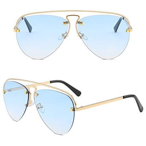 CADANIA Männer Frauen Unisex Sonnenbrille Rahmenlose Charme Persönlichkeit Sonnenschirm Fahren Spiegel Straße Pography Requisiten Gläser Schmuck Geschenke 5#