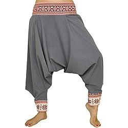 Pantalones cagados corte tradicional con decoración hermosa como ropa hippie y pantalones bombachos de virblatt S - L – Begeisterung