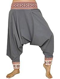 Pantalon sarouel, coupe traditionnelle avec belle décoration, vêtements originaux pantalon ethnique de virblatt S - L – Begeisterung