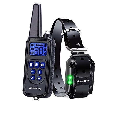 Wodondog Hundehalsband,Hunde Vibration shalsband, 100{5531cbec12fb28703407df631c946b8690d2fd28d4542a63b4e9fc1968a01320} wasserdichtes Halsband mit starken Vibrationen, Vibration, Beep-Modus, Kein Schock für Ihren Hund, 500 Meter Reichweite