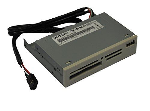 Mitsumi Card Reader 13in 1(Kartenleser) für 3,5All in One USB 2.0(High Speed), 4Slot, USB Innenraum, unterstützt CompactFlash, Memory Stick, MMC, SD, SmartMedia, XD, miniSD.