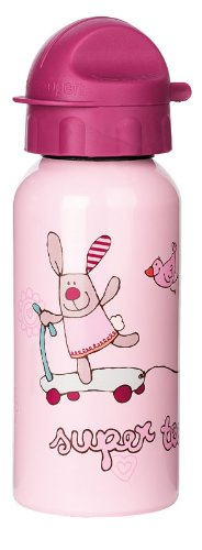 sigikid, Mädchen, Trinkflasche mit Drehverschluss 0,4 l, 3 happy friends, Rosa, 23918