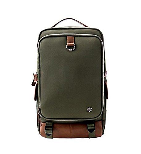 Hartschale Rucksack Canvas Casual täglichen Laptop Aufbewahrung khaki khaki (Laptop Filson Tasche)