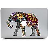 Sticker Macbook, Stillshine New Fashion Creative Art Vinyl Decal Autocollant Noir pour Apple MacBook Pro / Air 13 Pouces pour Ordinateur (Eléphant)