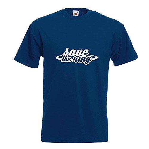 KIWISTAR - Save The Ring - Motorsport - Rennstrecke T-Shirt in 15 verschiedenen Farben - Herren Funshirt bedruckt Design Sprüche Spruch Motive Oberteil Baumwolle Print Größe S M L XL XXL Navy