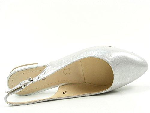 Donna D'argento in Della 29402 Argentato Sandali Metallo Capriccio 920 Flangia Posteriore wXCSqX