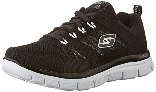 Skechers Flex Advantage, Boy's Low-Top Sneakers, Black (Bkw), Child 10.5 UK (28...