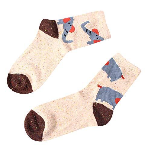 YWLINK Cartoon Tier Drucken Herbst Winter Warm Damen Socken Weihnachtsgeschenk Mode