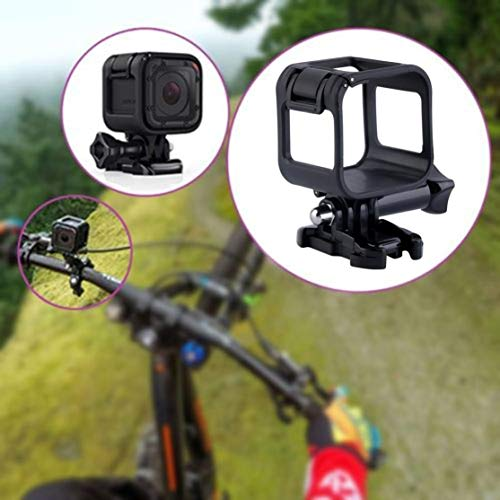 Features: The frame is fully adjustable to fit for Hero 4 Session. Make it easy to capture and video shoot. Made of high quality plastic, it will protect your camera from dropping, hitting or crush by car. Pocket size and lightweight, more easy to ta...