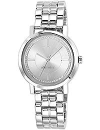 Nine West NW/1643SVSB - Reloj de pulsera mujer, aleación, color plateado