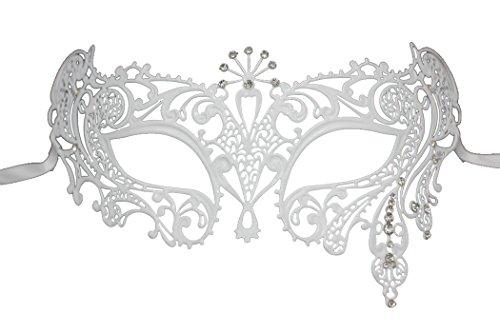 Fashion Laser geschnitten Strass Metall venezianischen Cosplay Party Masquerade (Tanz Kostüme Licht Schwarz)