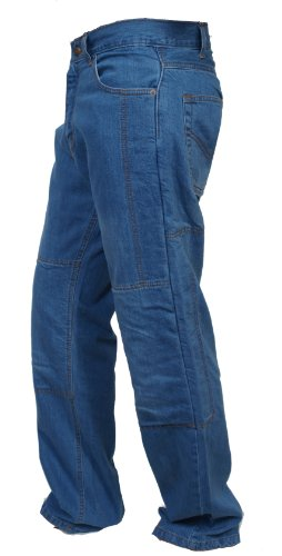 Juicy Trendz Herren Motorradrüstung BikerMotorrad Denim Hose Jeans Light Blau W32 L30