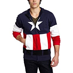 Capitán América The First Avenger Cap A Costume Sudadera con Capuchat | XL