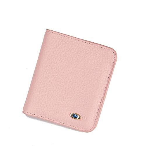 WEII Brieftasche Bluetooth Trackers Geldbörse Anti-Lost Erinnerung Telefon Finders Womens Brieftasche Funktioniert Mit Android & Ios,Rosa,11 * 10 * 2 cm