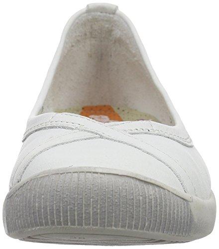 Softinos Damen Ilma Smooth Geschlossene Ballerinas Weiß (white 527)