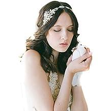 Womens cristallo Pearl Diamond Hairband sposa sposa l accessorio dei capelli  della fascia capa di 01c57aa0d073
