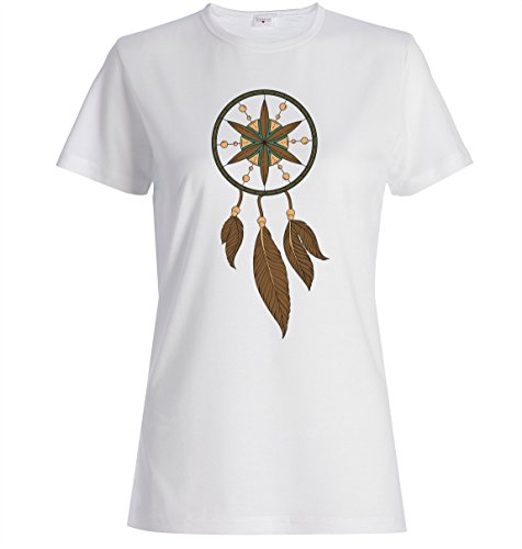 Dream catcher logo beautiful Dammen baumwolle t-shirt Weiß